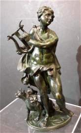 17th/18th Century Renaissance Bronze of Orpheus and