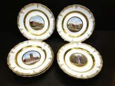 Group 6 KPM Berlin Porcelain Topographical Plates