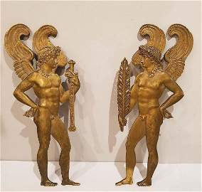 Pair of Empire Gilt Bronze Figures