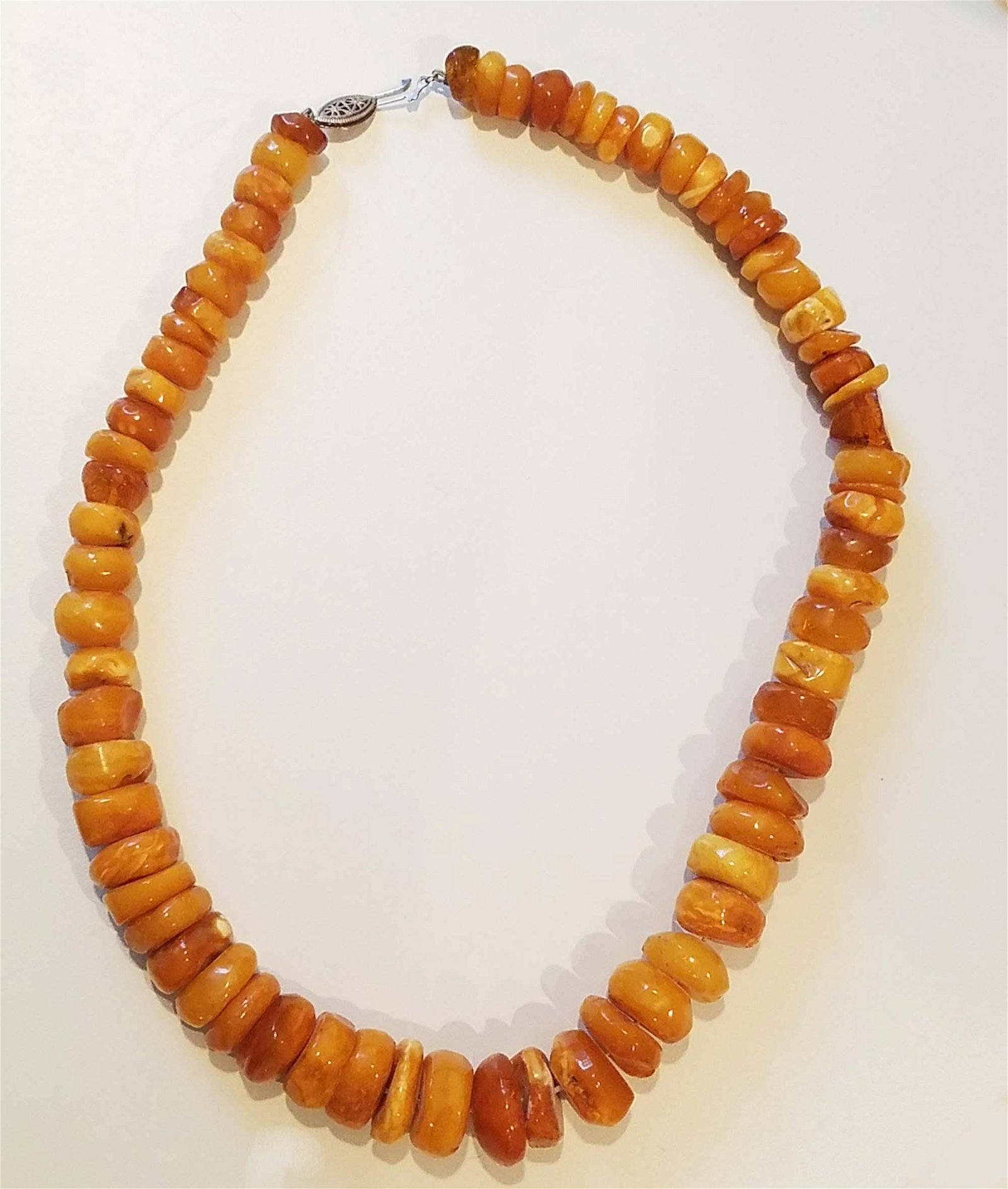 Natural Butterscotch Egg Yolk Baltic Amber Beads 112