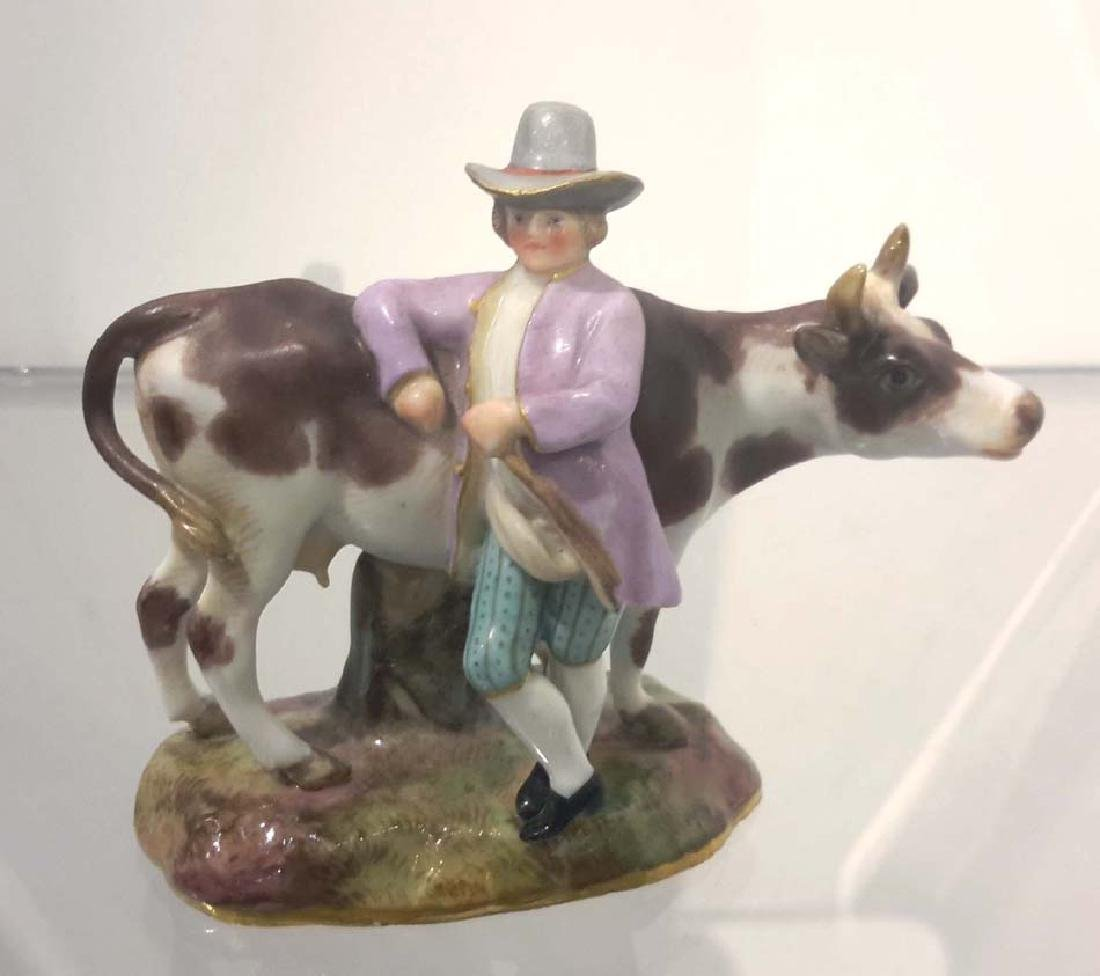 Meissen Porcelain Figure with Cow, Germany, circa 1890