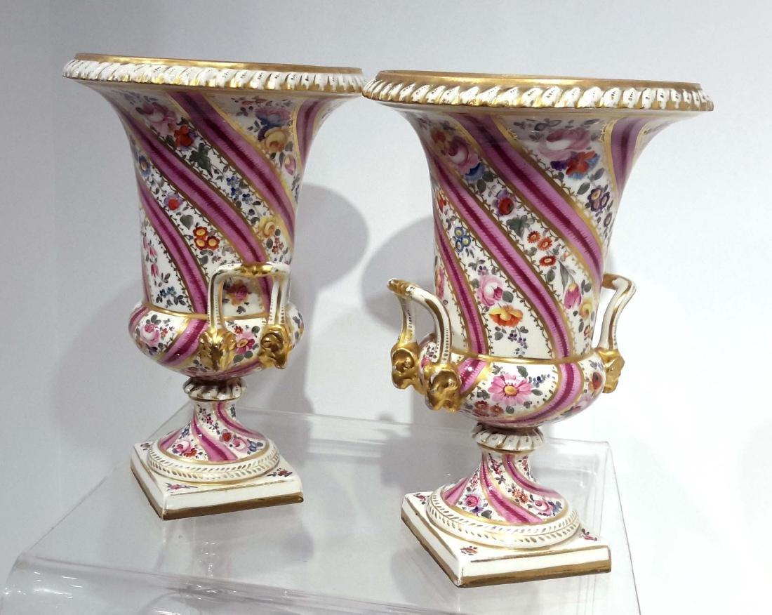 Pair of Swansea Porcelain Vases, English, circa 1820