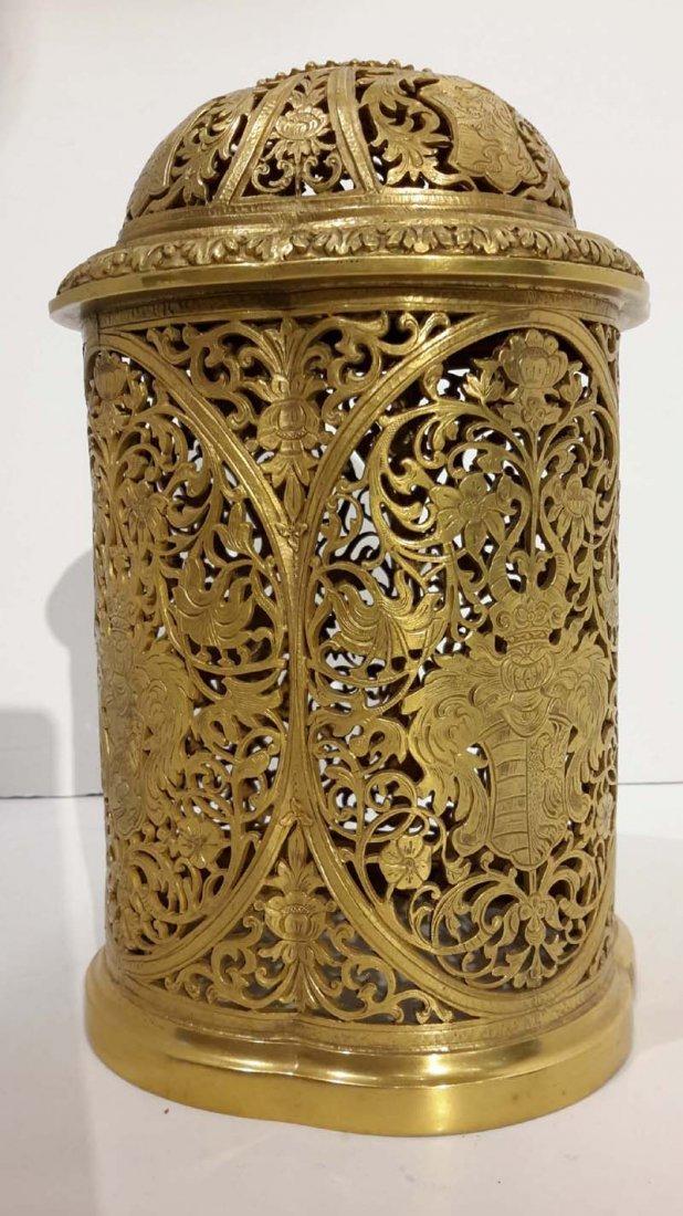 Renaissance Revival Gilt Bronze Open Work Box 19th