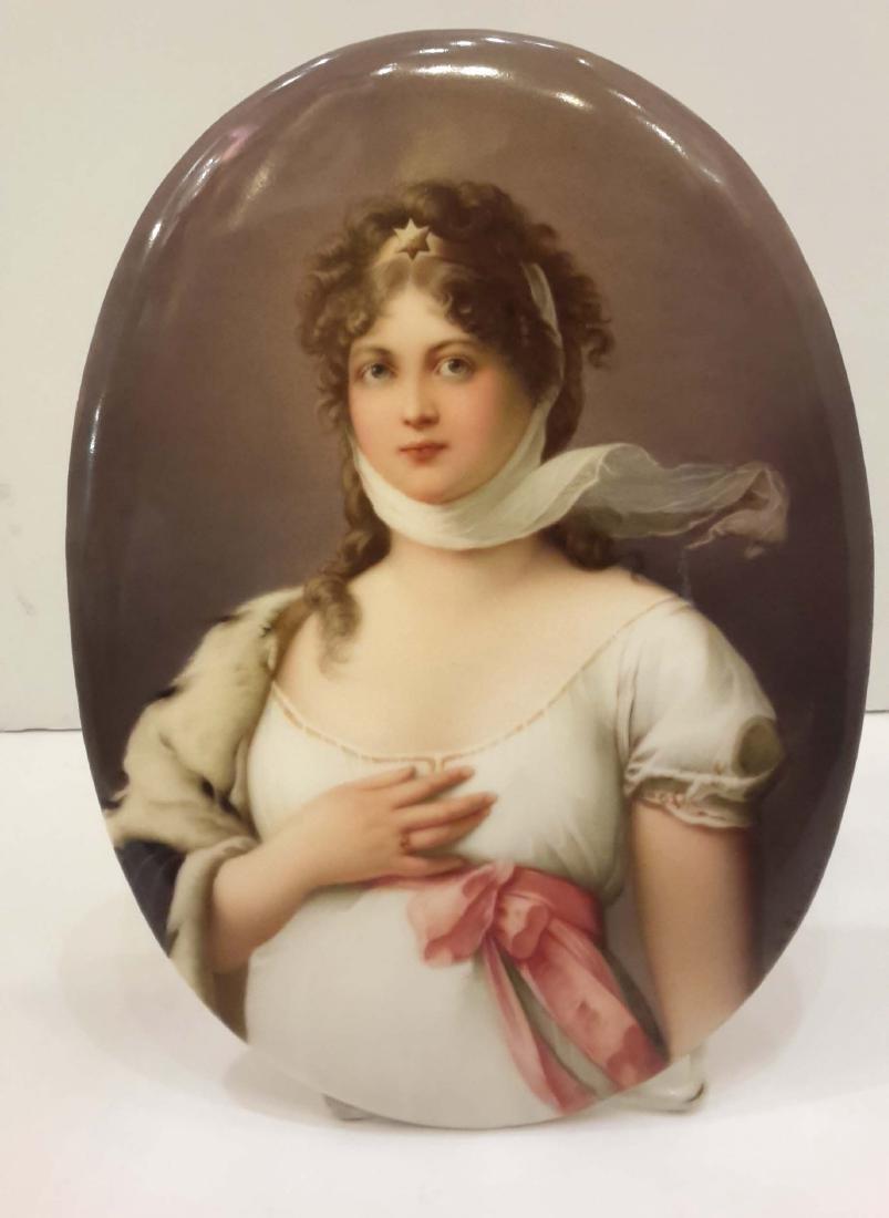KPM Porcelain Plaque Berlin, 19th Century
