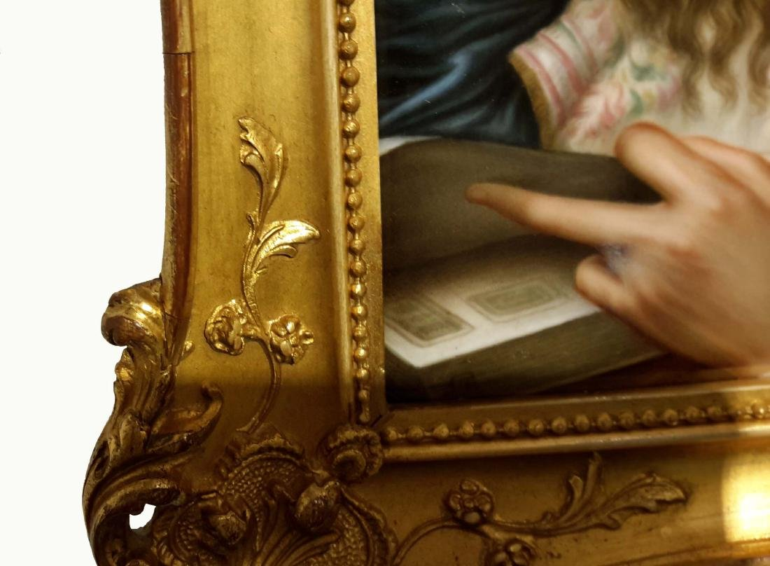 KPM Porcelain Plaque in Giltwood Frame, Germany, 19th - 6