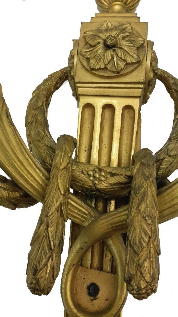 Pair of Louis XVI Style Gilt Bronze Sconces, circa 1900 - 5