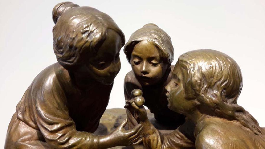 Peter Tereszczuk Large Bronze Inkwell - 2