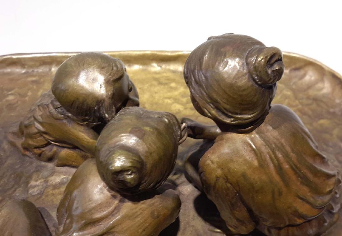 Peter Tereszczuk Large Bronze Inkwell - 5
