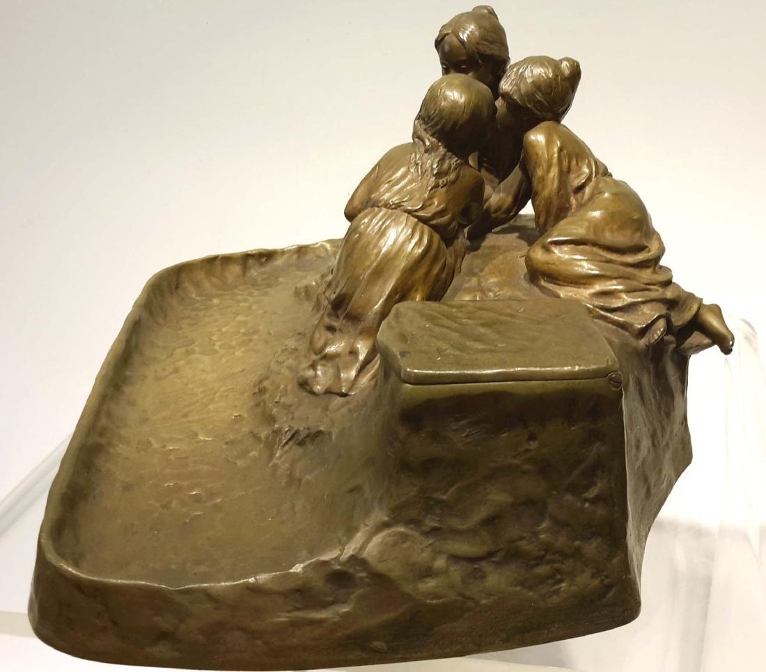 Peter Tereszczuk Large Bronze Inkwell - 6