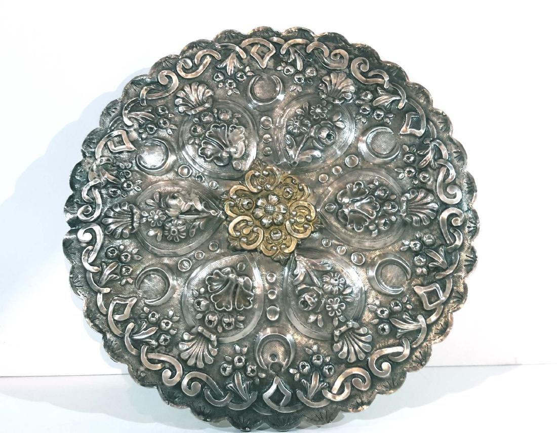 Ottoman Silver Mirror, Turkey 19C.