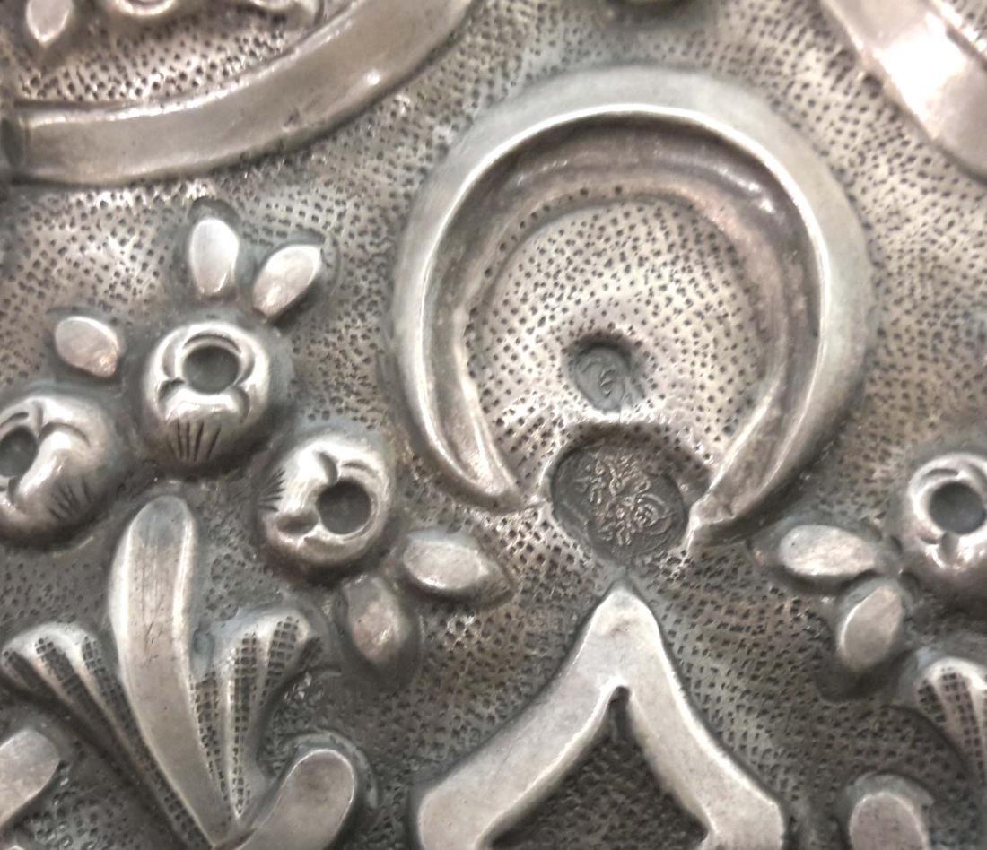 Ottoman Silver Mirror, Turkey 19C. - 7