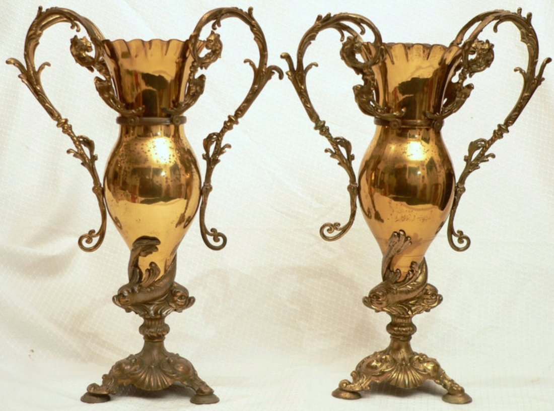 Pair of Victorian Vases, made by Bradley & Hubbard