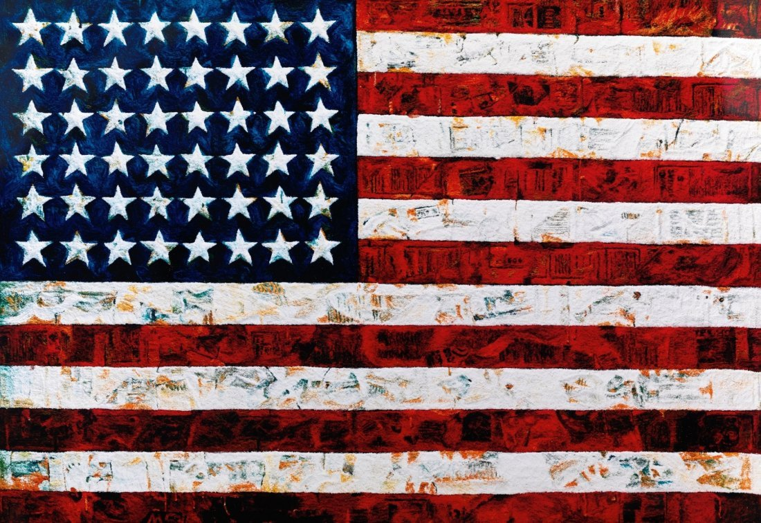 Flag, after Jasper Johns: Vik Muniz