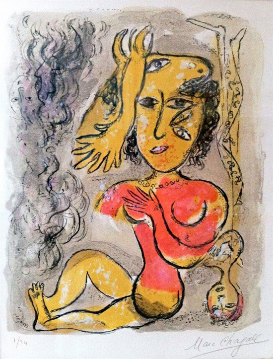Le Cirque printed in 1967: Marc Chagall