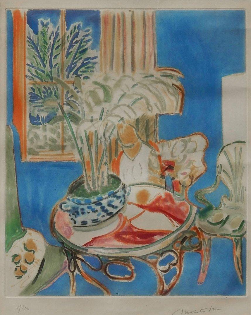 Petit Interieur Bleu, printed 1952: Henri Matisse