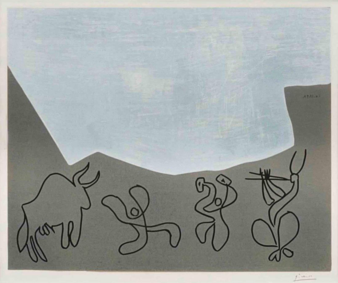 Bacchanal Linoleum printed 1959: Pablo Picasso