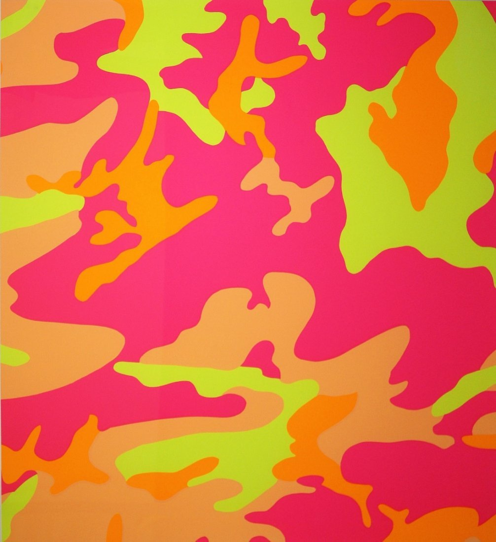 Camouflage Screenprint by Andy Warhol, Printed 87 - 5