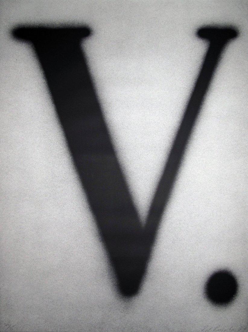 V, printed in 1989: Ed Ruscha