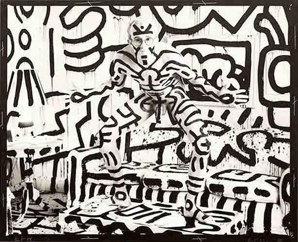 Keith Haring, New York, printed 1986: Annie Leibovitz