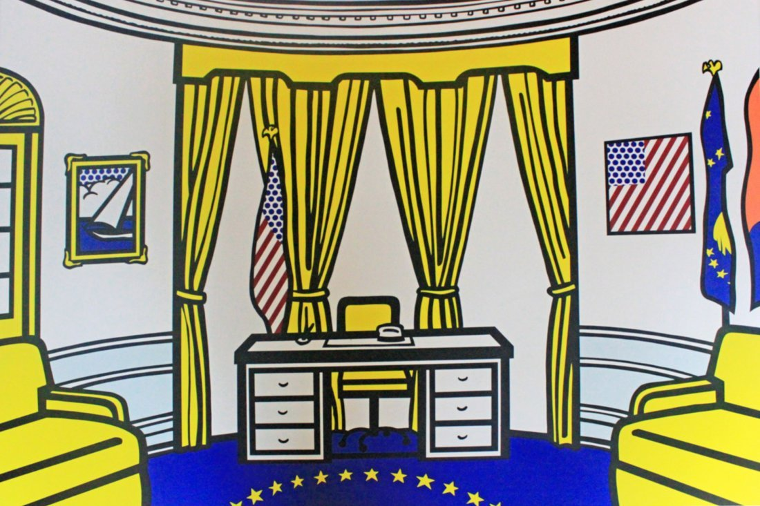 The Oval Office by Roy Lichtenstein: Printed 1992