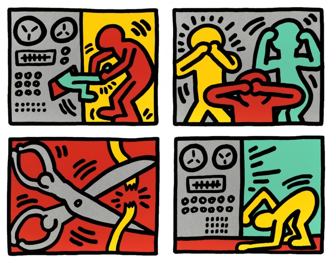 Pop Shop Quad III by Keith Haring: Printed 1989
