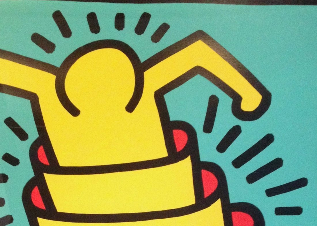 Cup Man by Keith Haring: Printed in 1989 - 3