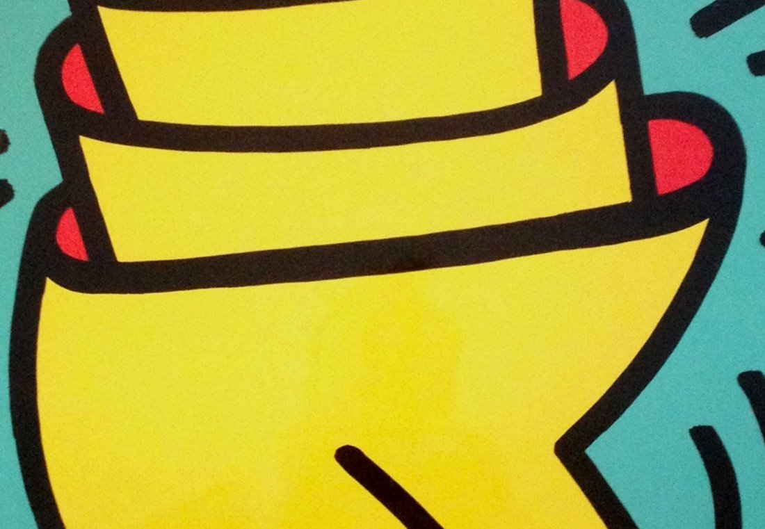 Cup Man by Keith Haring: Printed in 1989 - 5