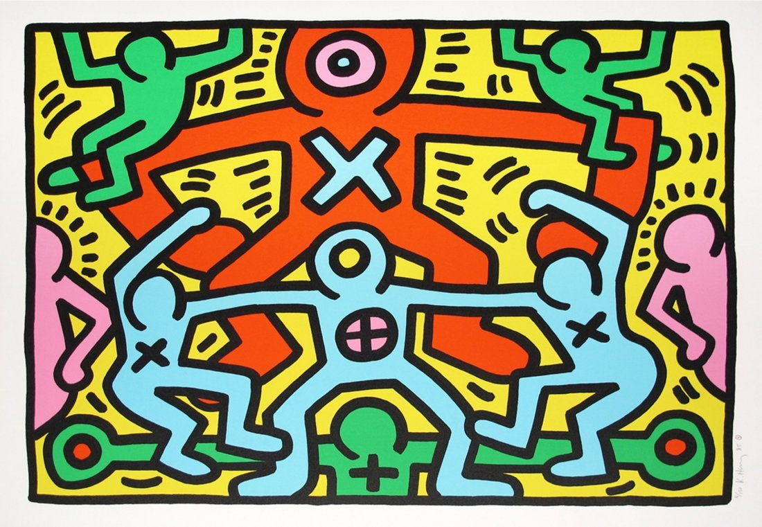 Untitled 1985 by Keith Haring: Printed 1985