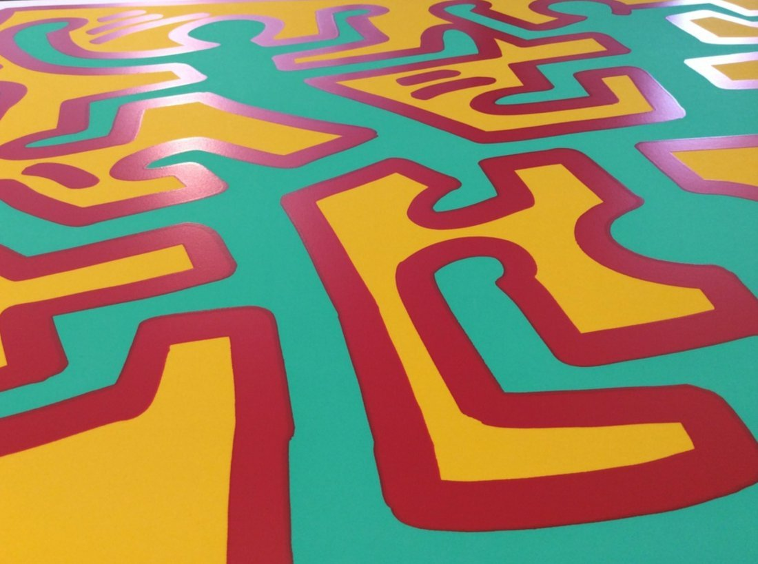 Growing Number 4 by Keith Haring: Printed 1988 - 2