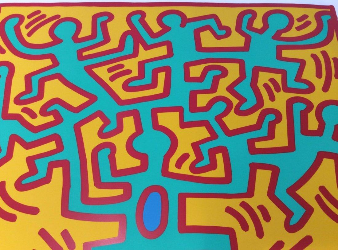 Growing Number 4 by Keith Haring: Printed 1988 - 3