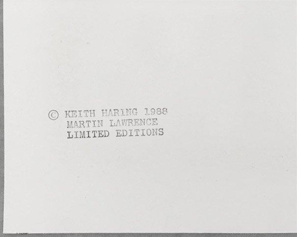 Growing Number 4 by Keith Haring: Printed 1988 - 5