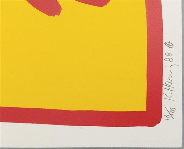 Growing Number 4 by Keith Haring: Printed 1988 - 7