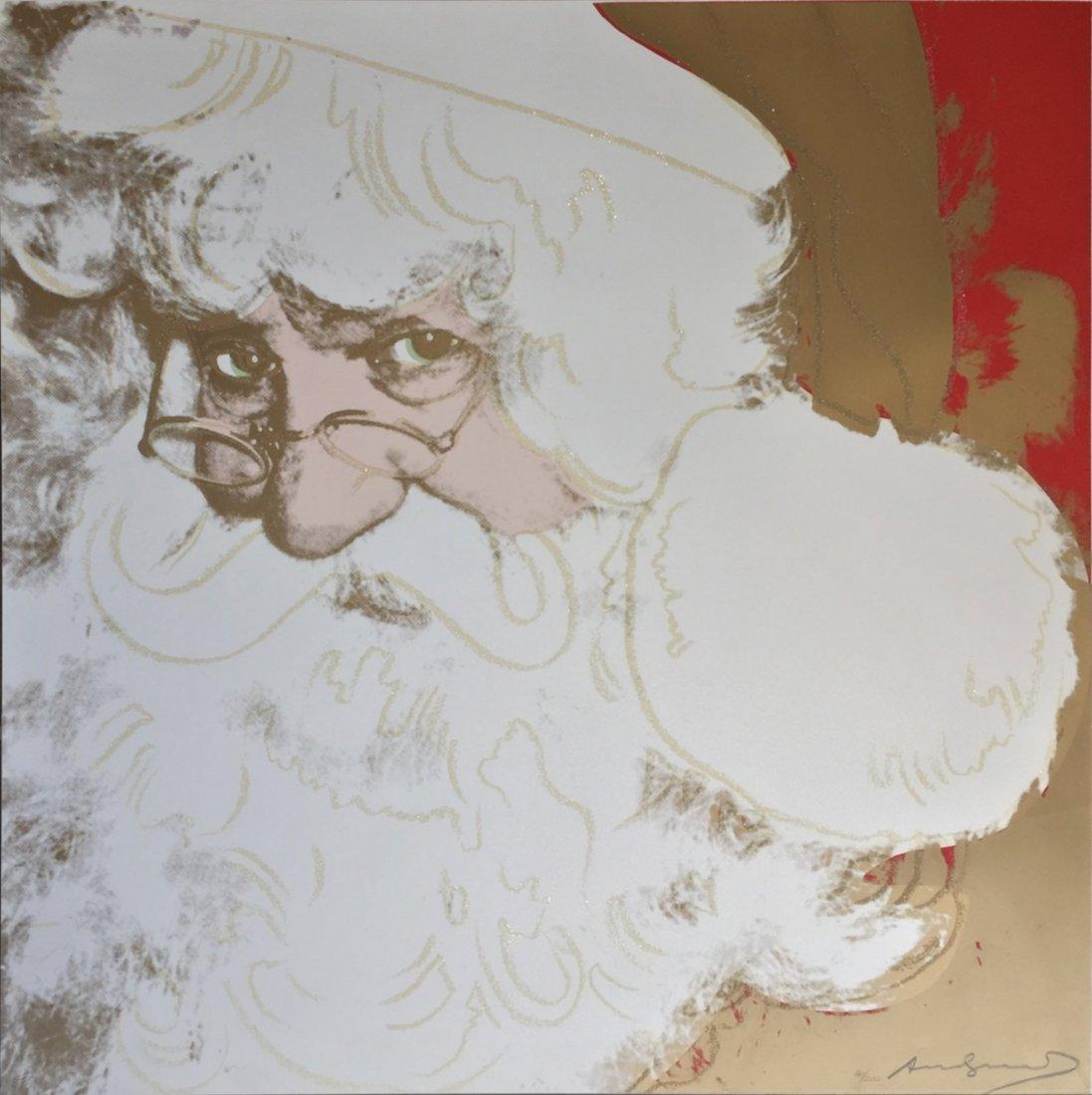 Santa Claus by Andy Warhol: Printed 1981