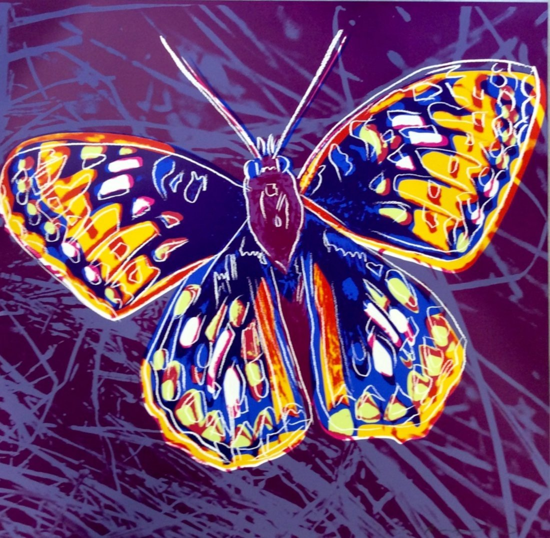 Silverspot Butterfly by Andy Warhol: Printed 1983