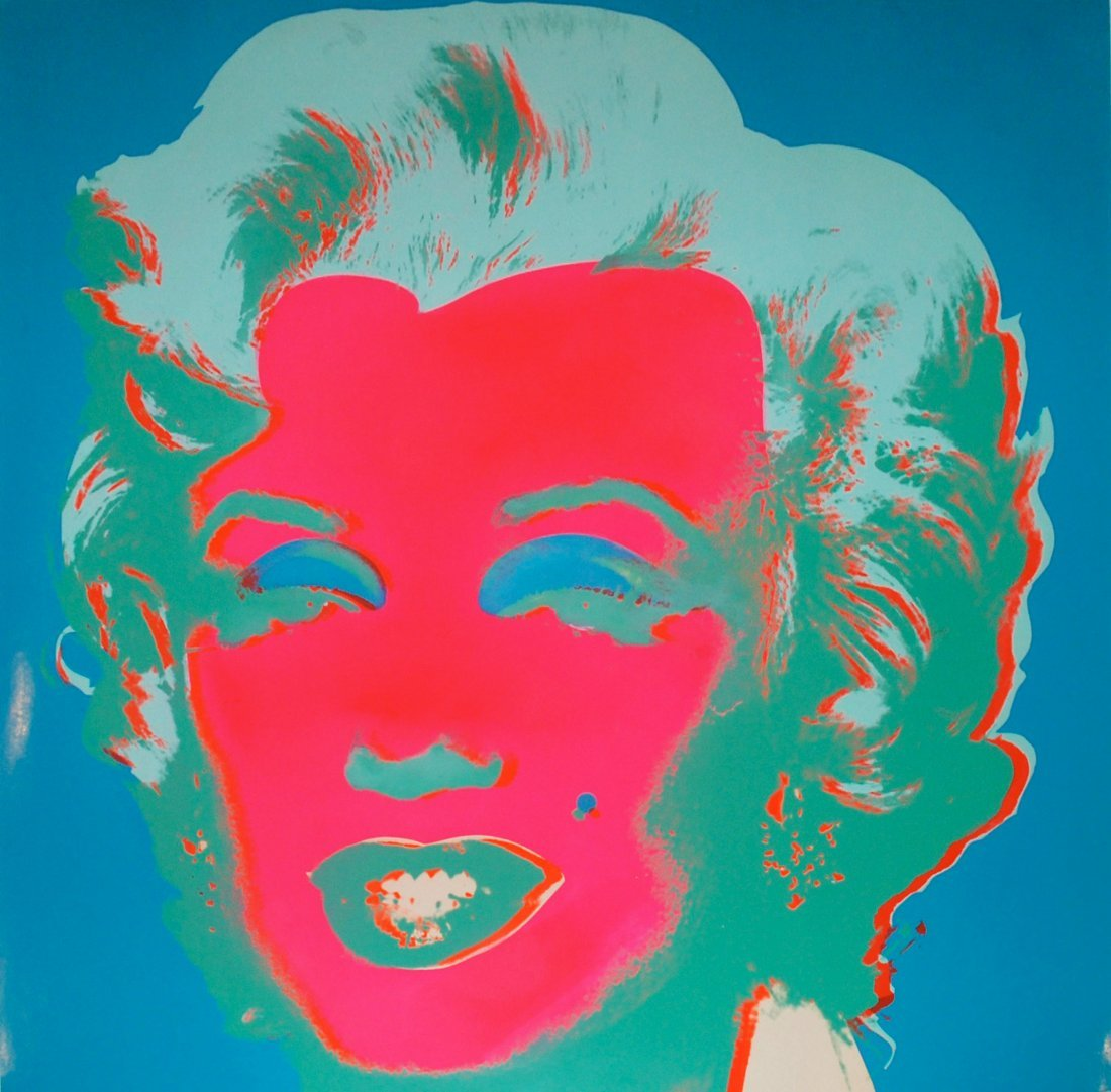 Marilyn Monroe by Andy Warhol: Printed in 1967