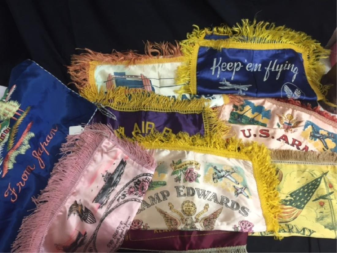 10pc Military Sweetheart Pillow Cases Many of WWII
