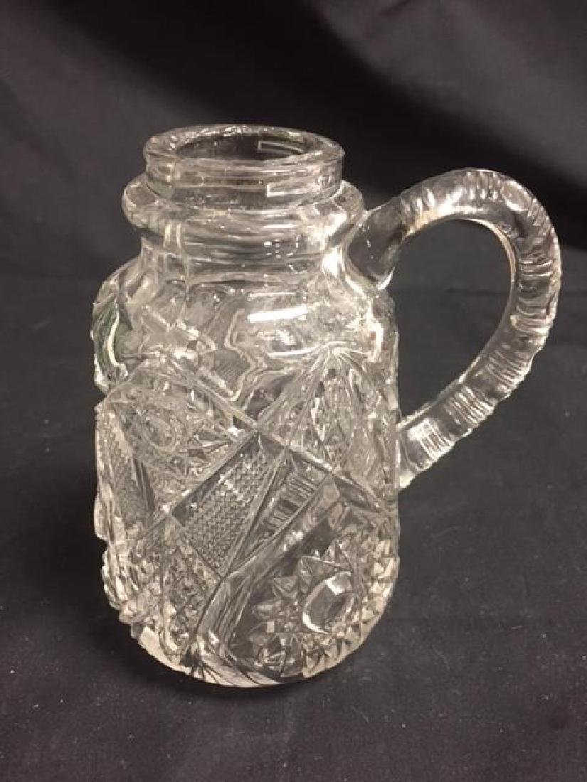 Syrup Jar Pressed glass Maple Syrup jar with handle,
