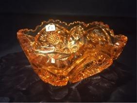 Amber Crystal Bowl