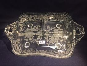 Sectioned Dish w/Floral Etching by ThriftCHI
