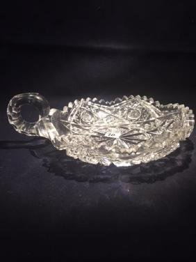 "6"" Cut Candy Dish Looks like American Brilliant.  One"
