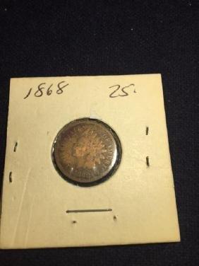1868 Indian Head Penny (Bronze) A Good