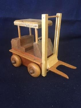 Set of 3 Vintage Wooden Construction Pieces No number