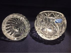 Pair of Lead Crystal Bowls By: Violetta Poland