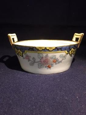"4"" Bowl with Handles Hand Painted Nippon"