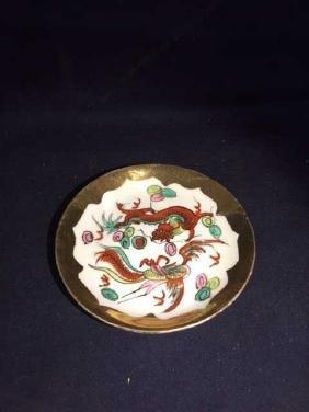19th Century Dragon & Phoenix Cup & Saucer