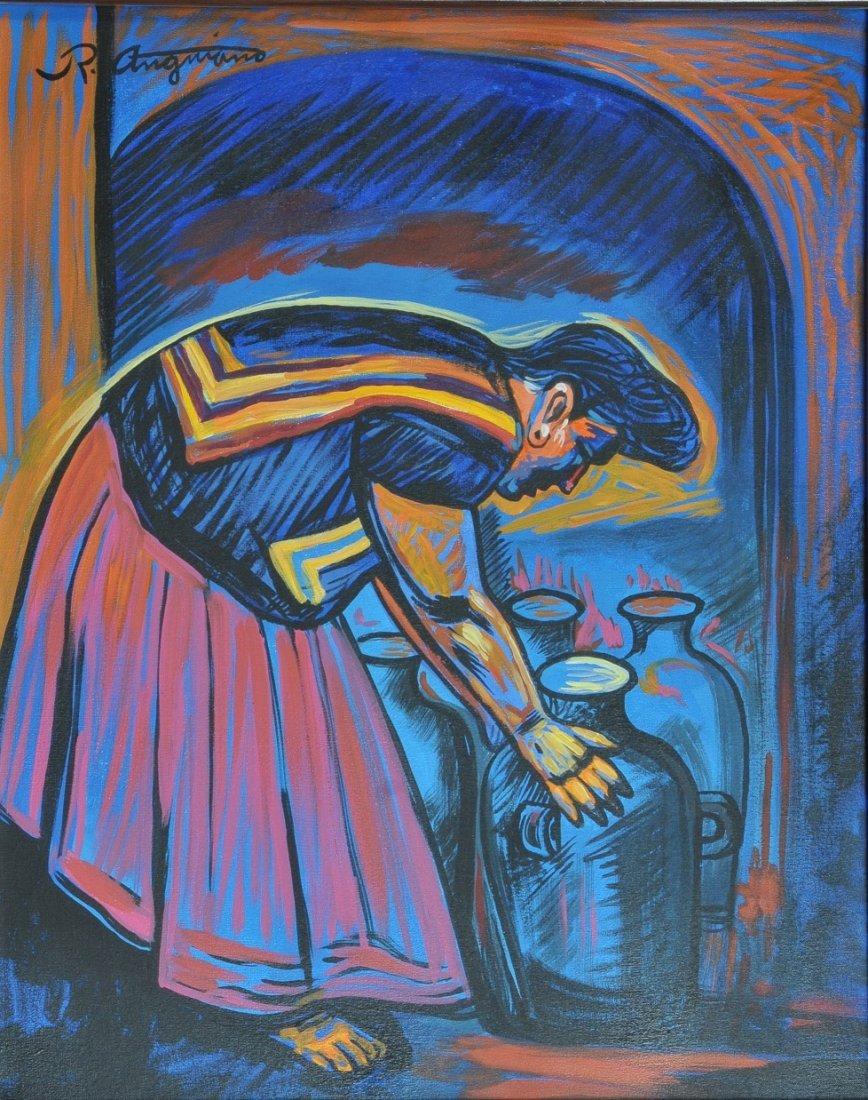 Alfarera con Anfora, 2003 - Raúl ANGUIANO VALADEZ