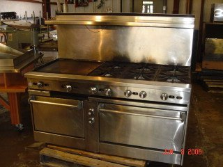 "407: 5' Gas Stove 6-burner w/ 24"" Grill & 2 ovens Jade"
