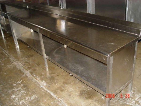 "412: 9'8""x24"" SS Table w/ SS Undershelf"