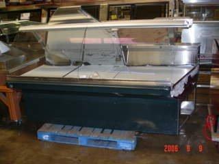 418: 7' Barker Deli Merchandiser w/ Curved  Lift Glass
