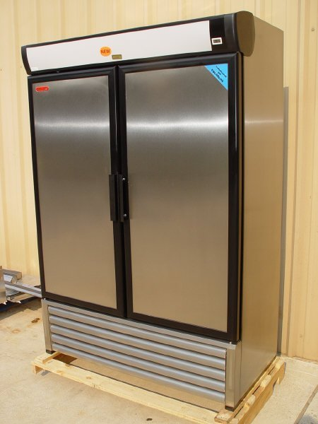 6: NEW TOR REY 2-door Solid SS Freezer